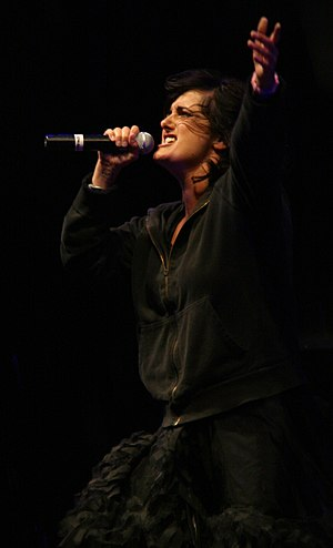 Sian Evans, singer of Kosheen; performance at ...