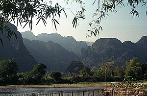 Landscape in Vang Vieng