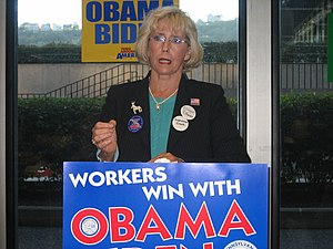 English: PA: Lilly Ledbetter Visits Pittsburgh...