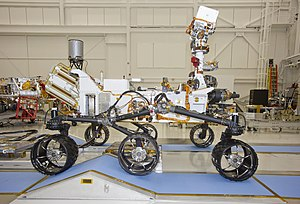Mars Rover Curiosity, Right Side View