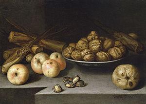 Español: Pedro de Medina, Bodegón de manzanas,...