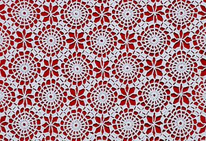 English: Detail of crochet table-cloth. França...