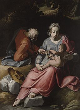 The Holy Family by Cornelis van Haarlem 1590