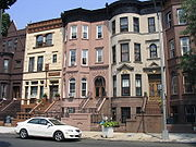 Casas en filas en Brooklyn.