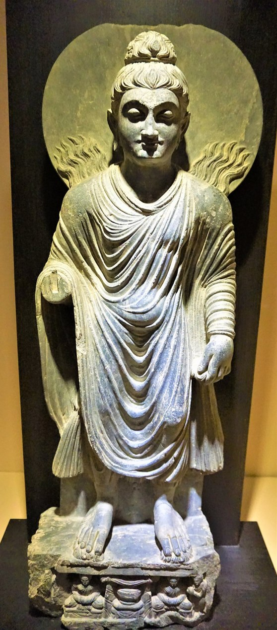 Buddha performing Twin Miracles at Sravasti