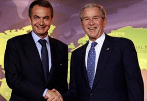 José Luis Rodríguez Zapatero and George W. Bush