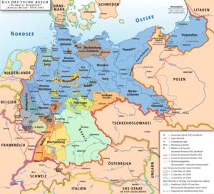 Karte des Deutschen Reiches, »Weimarer Republi...