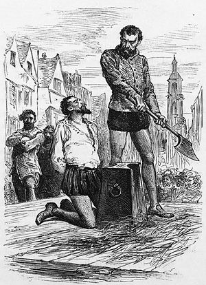 The execution of Sir Walter Raleigh.