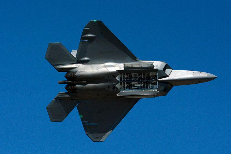 File:F 22 raptor bomb bay display 2014 Reno Air Races photo D Ramey Logan.jpg