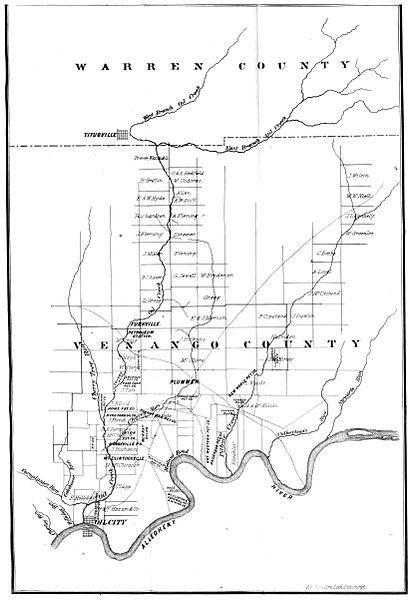 File:GILLELEN(1864) p109 Oil Creek, Allegheny River, Map