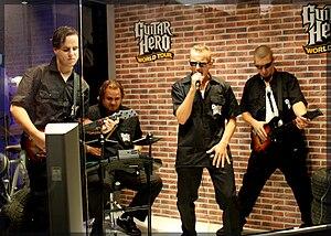 The Guitar Hero area had several soundbooths w...