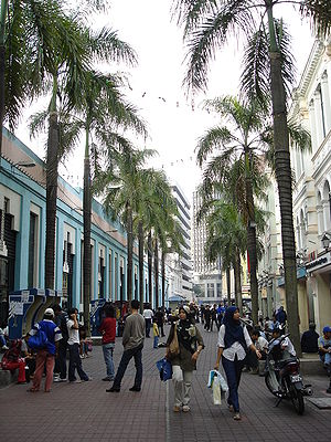 The pedestrian mall adjacent to Central Market...