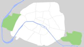 Khải Hoàn Môn trên bản đồ Paris