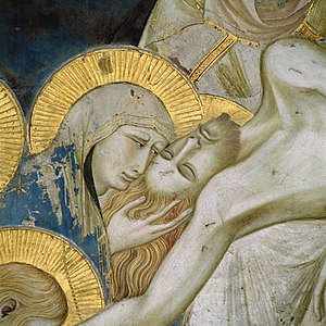Pietro Lorenzetti fresco detail, Assisi Basili...