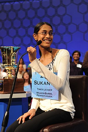 Sukanya Roy, Champion of the 2011 Scripps Nati...