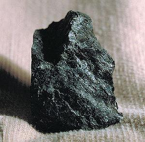 Serpentine, a rock type found along the Illino...