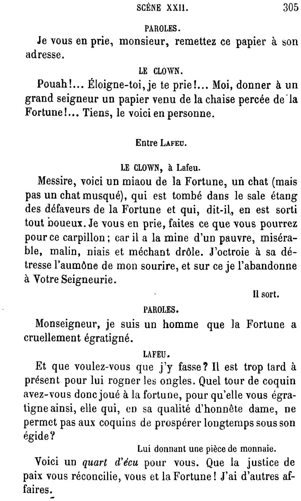 Parole Je Te Le Donne : parole, donne, Page:Shakespeare, Œuvres, Complètes,, Traduction, Hugo,, Pagnerre,, 1869,, 6.djvu/303, Wikisource