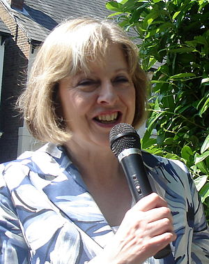 Photo of Theresa May, opening a church fete in...