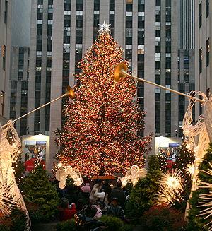 Christmas at Rockefeller Center, located in Ne...
