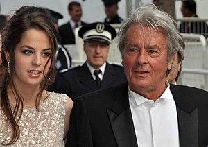 Français : Alain Delon et sa fille Anouchka au...