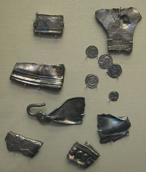Hoard of Romano-British cut silver, ingots and...