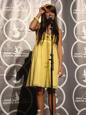 American singer Britt Nicole at the Dove Award...