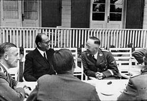 Chandra Bose with Heinrich Himmler