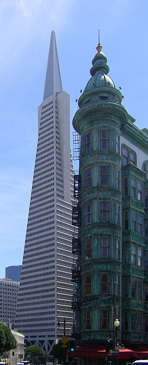 San Francisco: view of the Transamerica Pyrami...
