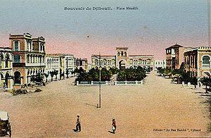 Place Menelik, Djibouti, c1905. Photograph of ...