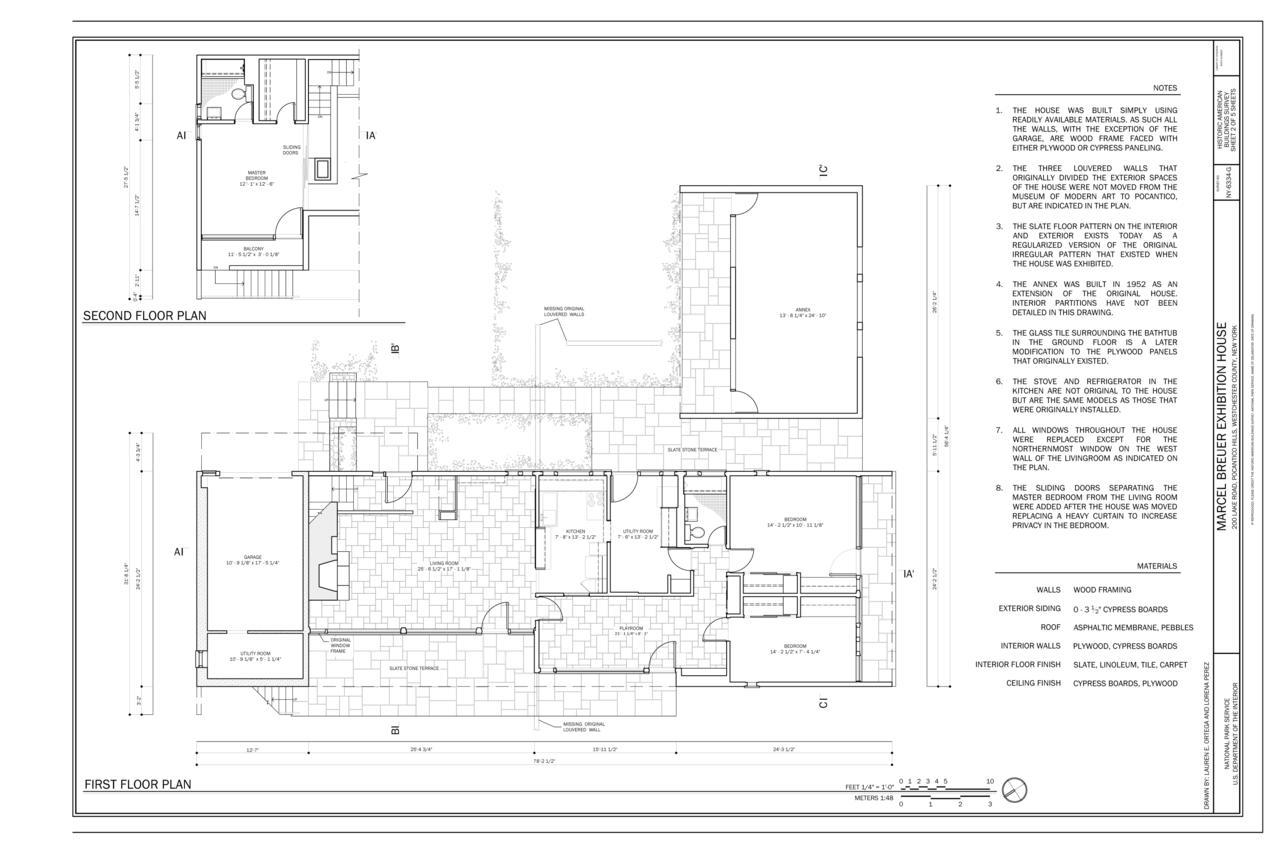 FileFirst and Second Floor Plan  Kykuit Marcel Breuer