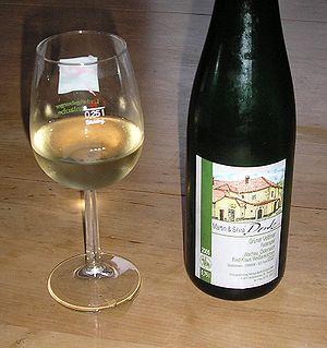 glass of wine, Grüner Veltliner, from Wachau, ...