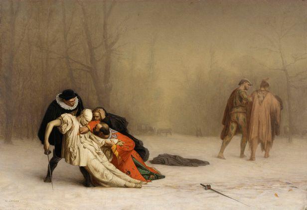 """The Duel After the Masquerade"" byJean-Léon Gérôme"