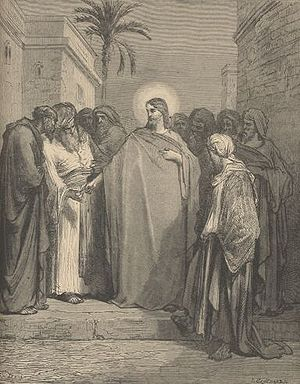 Dispute of Jesus and the Pharisees over tribut...
