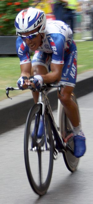 Joaquim Rodríguez at the prologue of the 2010 ...