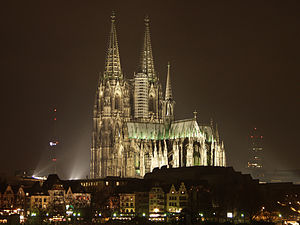 The Gothic Cologne cathedral in Cologne, Germa...