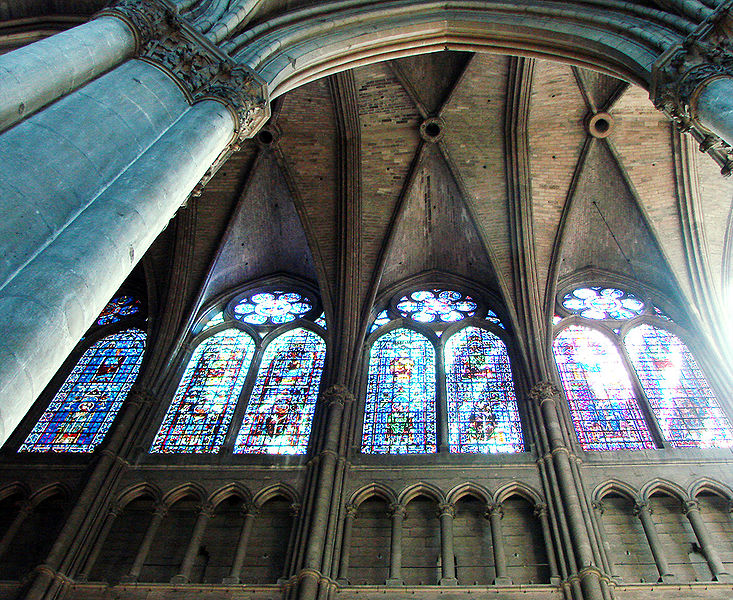 triforia katedry w Reims, wnętrze