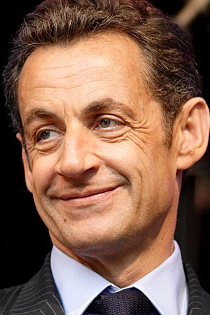 This image shows Nicolas Sarkozy who is presid...