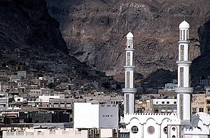 The old town of Aden, Yemen, situated in the c...