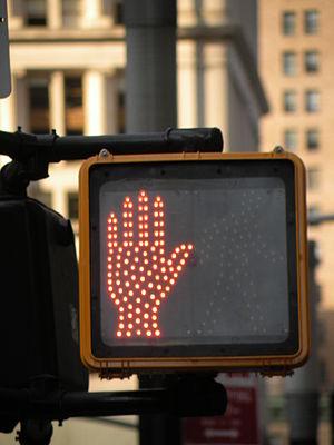 English: A pedestrian LED Traffic Light in Fin...