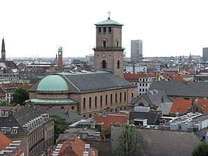 View from Rundetårn, Church of Our Lady (Copen...