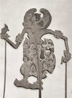 Wayang shadow-puppet (Bali, early 20th century)