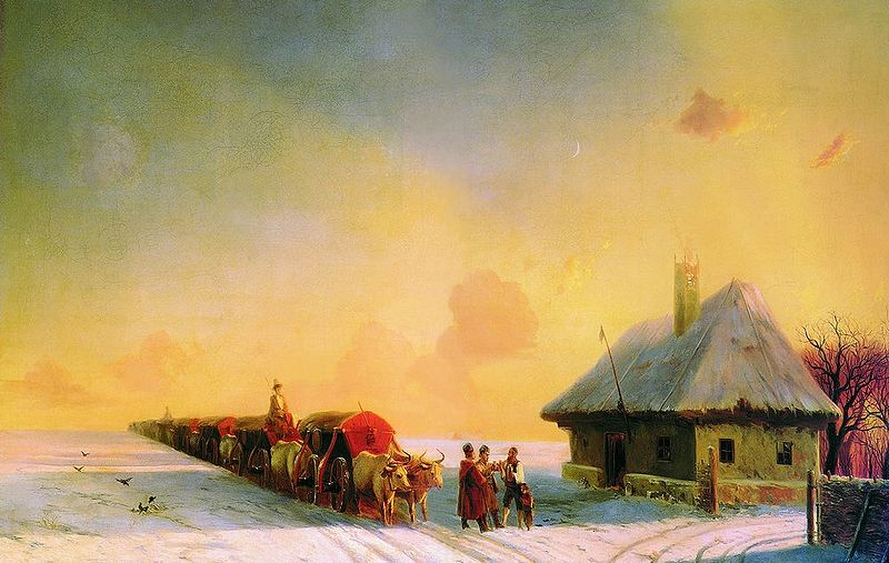 File:Aivasovsky Ivan Constantinovich - Chumaks in Little Russia.jpg