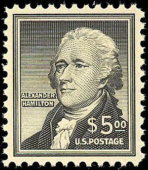 English: US Postage stamp: Alexander Hamilton,...