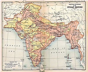 Map of the British Indian Empire from Imperial...