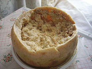 Casu Marzu, a type of cheese. This image was m...