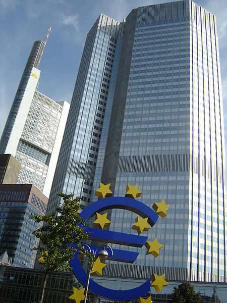 The Eurotower in Frankfurt