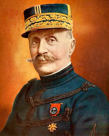 English: Hand-colored photograph of French Gen...
