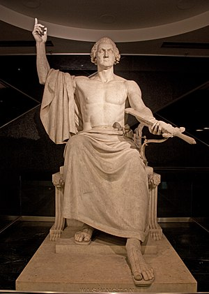 English: George Washington statue by Horatio G...