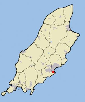 Location of Douglas on Isle of Man