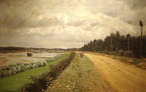 Oil painting Lungo l'Ofanto (1870) by Giuseppe...